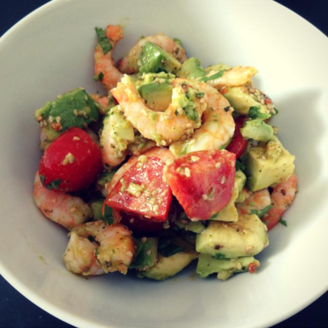 Garnelen salat low carb